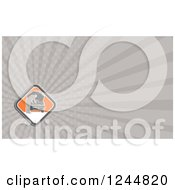 Clipart Of A Gray Ray Background Or Business Card Design Royalty Free Illustration