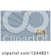 Clipart Of A Ray Mechanic Background Or Business Card Design Royalty Free Illustration