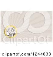 Clipart Of A Satellite Dish Installer Background Or Business Card Design Royalty Free Illustration by patrimonio