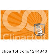 Clipart Of A Lighting Or Sound Man Background Or Business Card Design Royalty Free Illustration