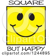 Square But Happy Yellow Face