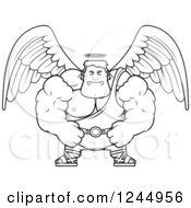 Black And White Mad Brute Muscular Male Angel