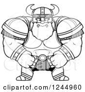 Black And White Mad Brute Muscular Viking