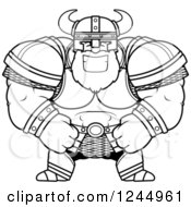 Black And White Brute Muscular Viking Grinning