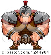 Clipart Of A Mad Brute Muscular Centurion Royalty Free Vector Illustration by Cory Thoman