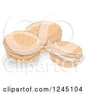 Clipart Of Macaroon Cookies Royalty Free Vector Illustration