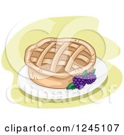 Clipart Of A Blackberry Pie Royalty Free Vector Illustration