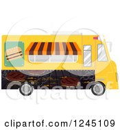 Clipart Of A Burger Food Truck Royalty Free Vector Illustration by BNP Design Studio