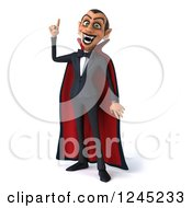 Clipart Of A 3d Dracula Vampire With An Idea Royalty Free Illustration