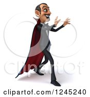 Clipart Of A 3d Dracula Vampire Attacking Royalty Free Illustration