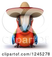 Clipart Of A 3d Mexican Macaw Parrot Royalty Free Illustration