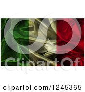 Clipart Of A 3d Dark Crumpled Italian Flag Royalty Free Illustration
