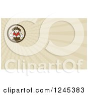 Clipart Of A Ray Tomato Farmer Background Or Business Card Design Royalty Free Illustration