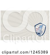 Clipart Of A Ray American Soldier Background Or Business Card Design Royalty Free Illustration