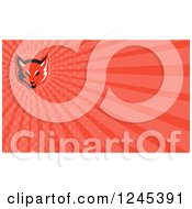 Clipart Of A Red Ray Fox Background Or Business Card Design Royalty Free Illustration by patrimonio