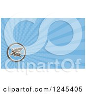 Clipart Of A Blue Ray Shark Background Or Business Card Design Royalty Free Illustration