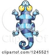 Striped Blue Chameleon Lizard