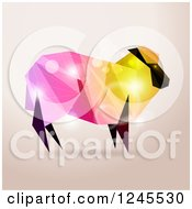 Colorful Geometric Sheep With Flares