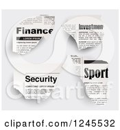 Finance Investments Sports And Security Newspaper Clippings