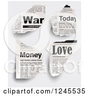 War Today Money And Love Newspaper Clippings