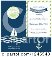 Nauticaul Sailing Wedding Invitation With Sample Text
