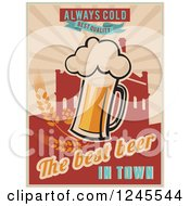 Always Cold Best Quality The Best Beer In Town Background