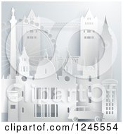 Clipart Of A 3d London Landmark Buildings And Attractions Royalty Free Vector Illustration