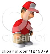 Clipart Of A 3d Male Golfer Pouting Royalty Free Illustration by Julos