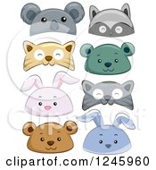 Clipart Of Animal Hats Royalty Free Vector Illustration by BNP Design Studio