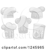 Clipart Of Chef Toque Hats Royalty Free Vector Illustration by BNP Design Studio