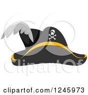 Clipart Of A Pirate Hat Royalty Free Vector Illustration
