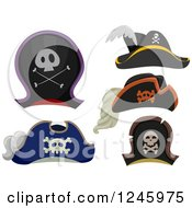 Clipart Of Pirate Hats Royalty Free Vector Illustration