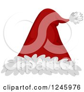 Clipart Of A Red And White Santa Hat Royalty Free Vector Illustration