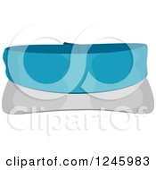 Clipart Of A Golf Visor Hat Royalty Free Vector Illustration