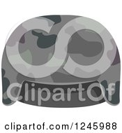 Clipart Of A Camouflage Military Hat Royalty Free Vector Illustration by BNP Design Studio