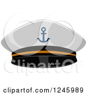Clipart Of A Sailor Military Navy Hat Royalty Free Vector Illustration