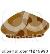 Clipart Of A Brown Camouflage Military Hat Royalty Free Vector Illustration by BNP Design Studio