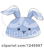 Clipart Of A Blue Rabbit Animal Hat Royalty Free Vector Illustration