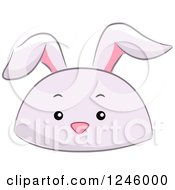 Clipart Of A Rabbit Animal Hat Royalty Free Vector Illustration