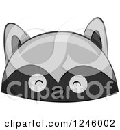 Clipart Of A Raccoon Animal Hat Royalty Free Vector Illustration by BNP Design Studio