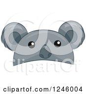 Clipart Of A Koala Animal Hat Royalty Free Vector Illustration by BNP Design Studio