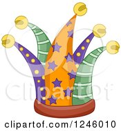 Clipart Of A Joker Hat Royalty Free Vector Illustration by BNP Design Studio