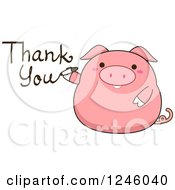 Pink Pig Writing Thank You