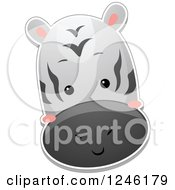 Clipart Of A Zebra Head Royalty Free Vector Illustration by BNP Design Studio