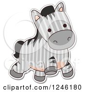 Clipart Of A Patterned Safari Zoo Animal Zebra Royalty Free Vector Illustration by BNP Design Studio