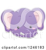 Clipart Of A Purple Elephant Face Royalty Free Vector Illustration by BNP Design Studio