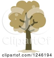Clipart Of A Tree With Brown Foliage Royalty Free Vector Illustration