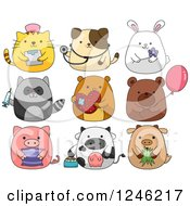 Clipart Of Cute Animals Royalty Free Vector Illustration