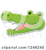 Clipart Of A Safari Zoo Animal Crocodile Face Royalty Free Vector Illustration by BNP Design Studio