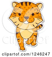 Clipart Of A Patterned Safari Zoo Animal Tiger Royalty Free Vector Illustration
